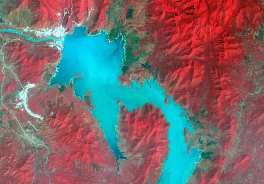 النيل الأزرق بالقرب من الحدود الإثيوبية-السودانية. (رويترز)