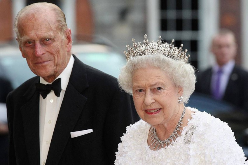 الملكة إليزابيث وزوجها