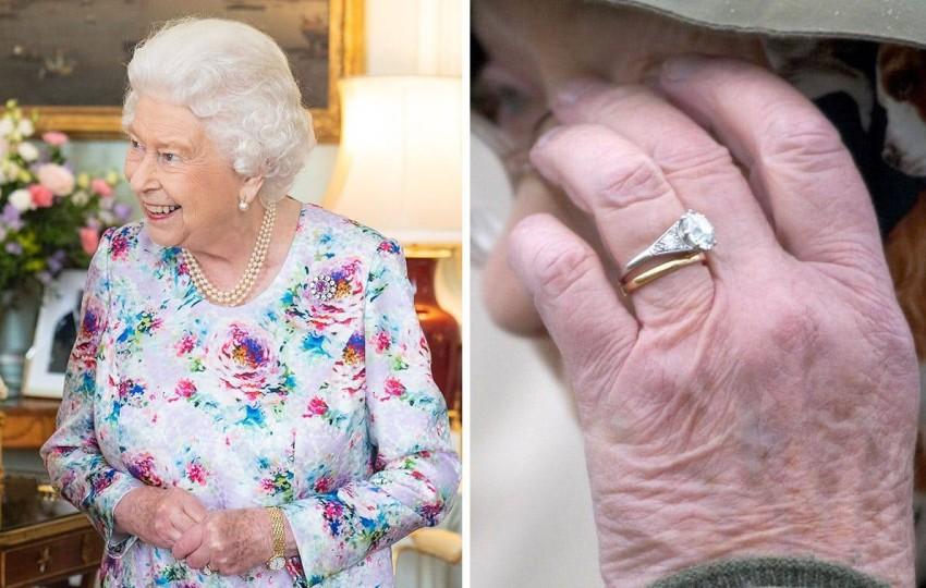 خاتم خطوبة الملكة إليزابيث