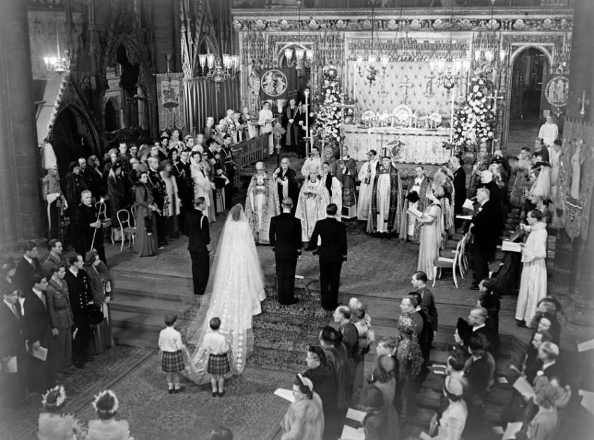 جزء من حفل الزفاف الأسطوري للملكة إليزابيث