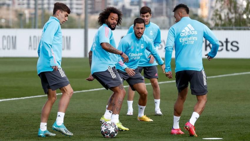 من تدريبات ريال مدريد. (من المصدر)