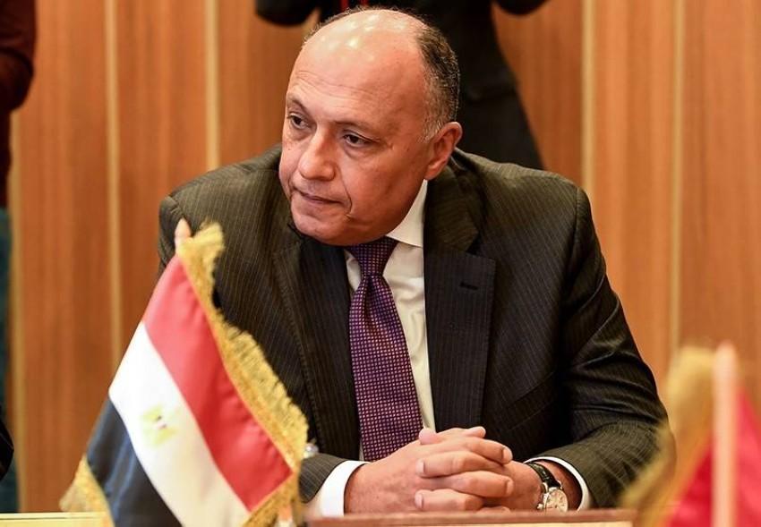 وزير الخارجية المصري. (أ ف ب)