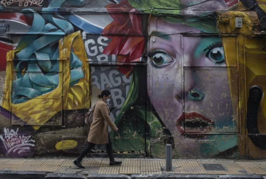 أحد شوارع وسط أثينا. (أ ب)