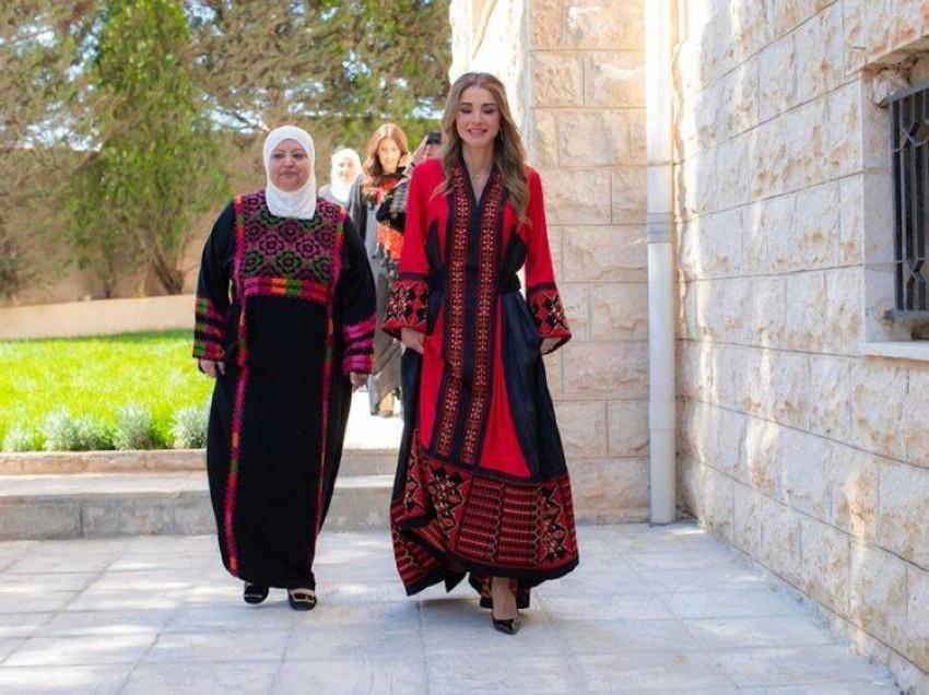 الملكة رانيا بثوب من توقيع مصممة أردنية