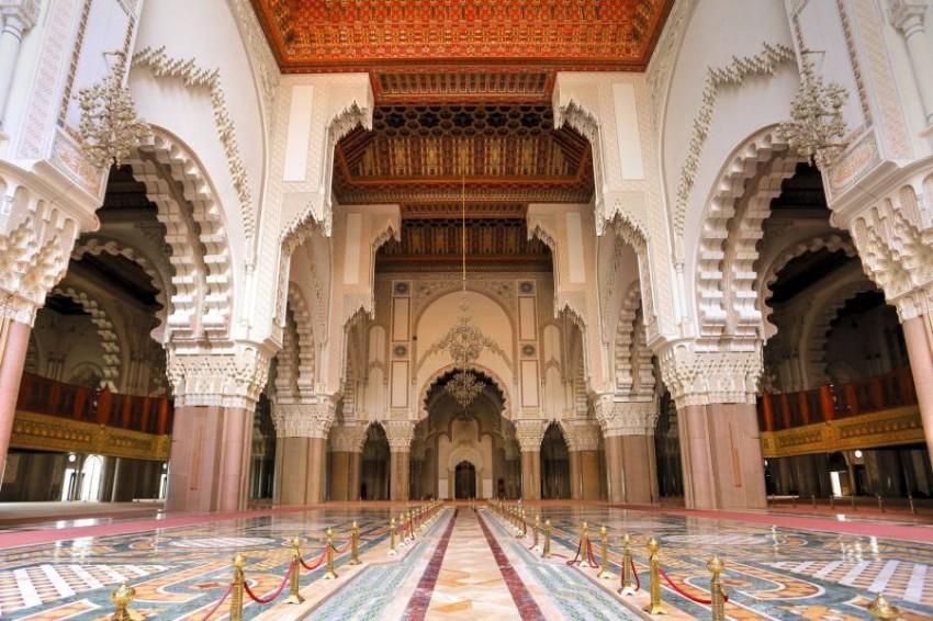 مسجد الحسن الثاني من الداخل