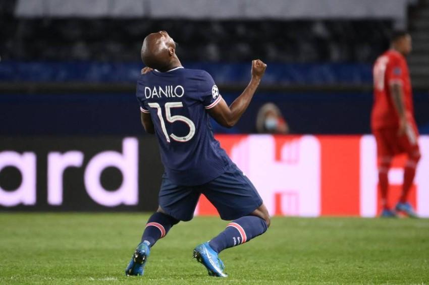 فرحة باريس سان جيرمان بالتأهل. (أ ف ب)