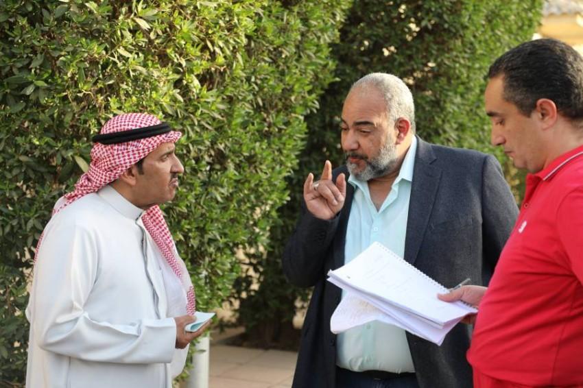 عبدالله السدحان وبيومي فؤاد في مسلسل الديك الأزرق