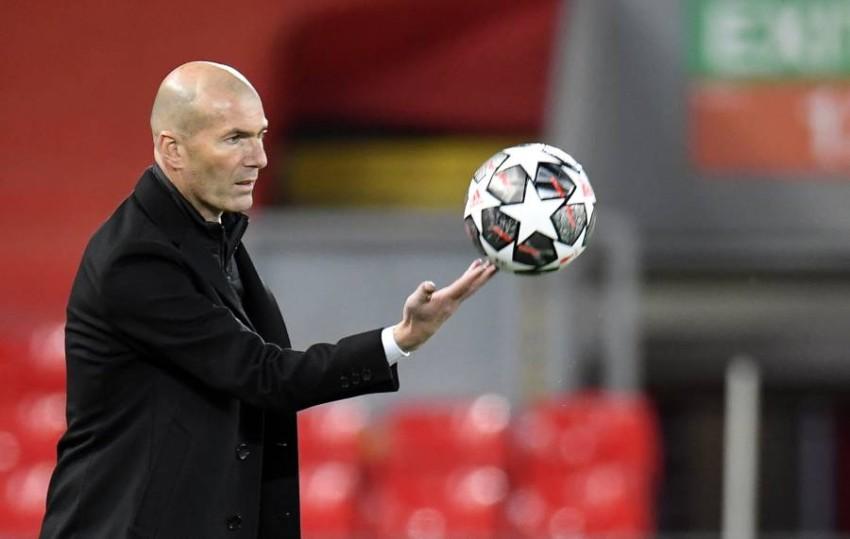 مدرب ريال مدريد زين الدين زيدان. (إ ب أ)