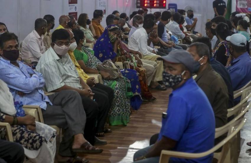 زيادة حادة في حالات العدوى في الهند. (أ ب)