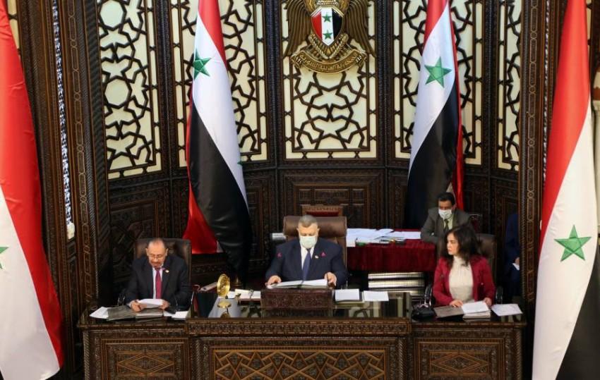 البرلمان السوري. (رويترز)