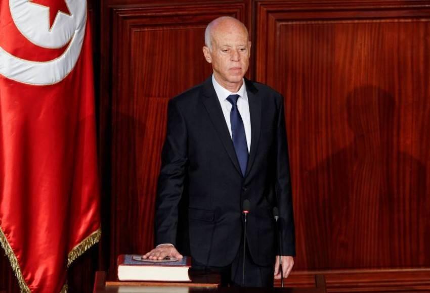رئيس الجمهورية التونسية قيس سعيد - رويترز.