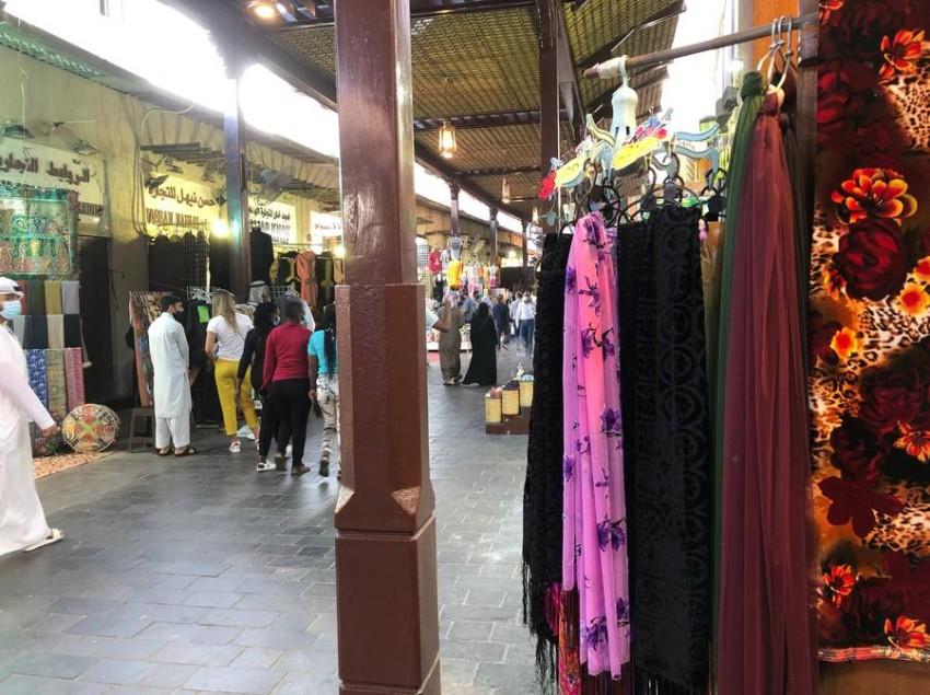 سوق دبي للأقمشة.