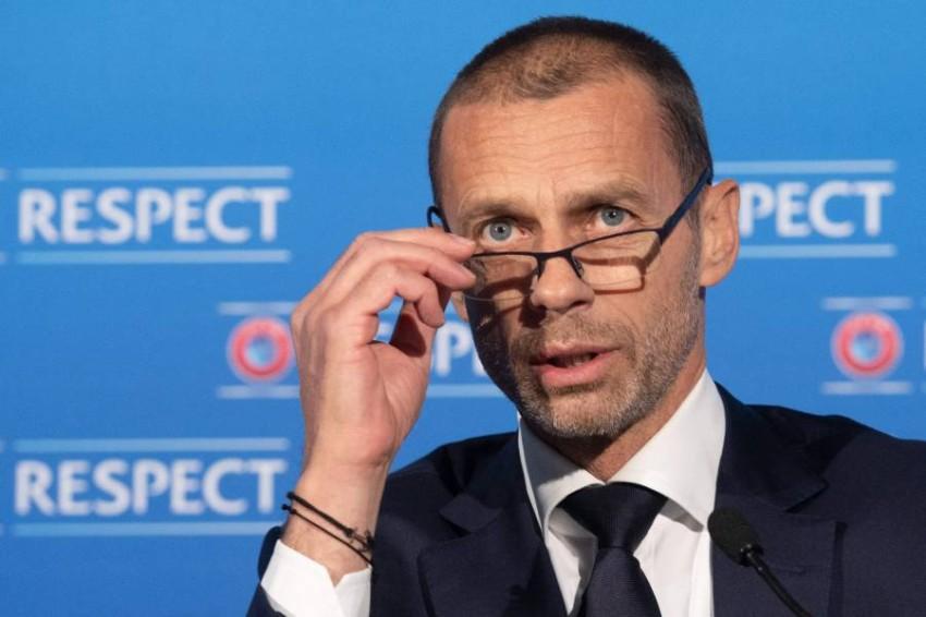 ألكسندر تشيفرين رئيس الاتحاد الأوروبي لكرة القدم. (أ ف ب)