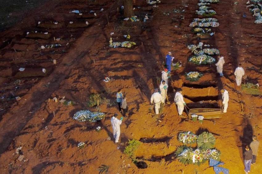 زاد عدد الوفيات التي سجلتها البرازيل بنسبة 5ر9 % - أ ف ب.