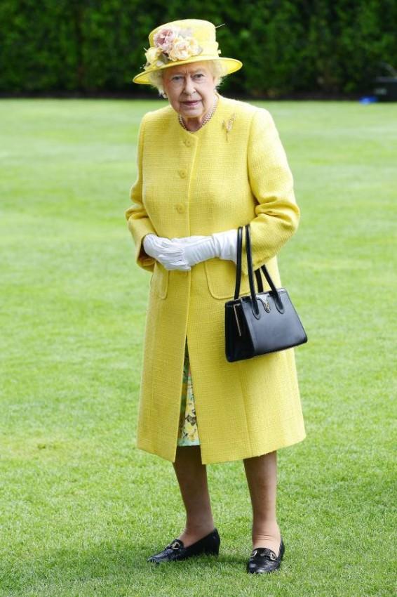 الألوان الفاقعة من الملكة إليزابيث