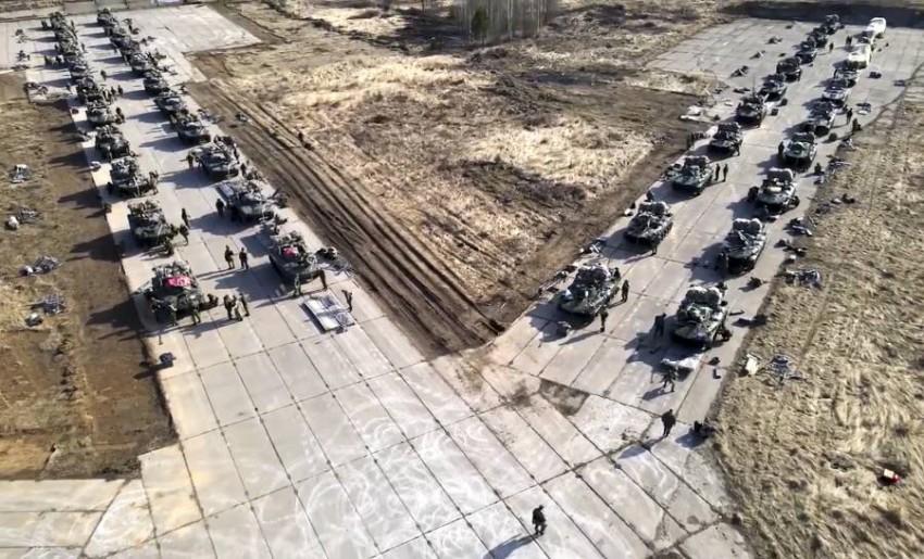 صورة نشرتها وزارة الدفاع الروسية. (أ ب)