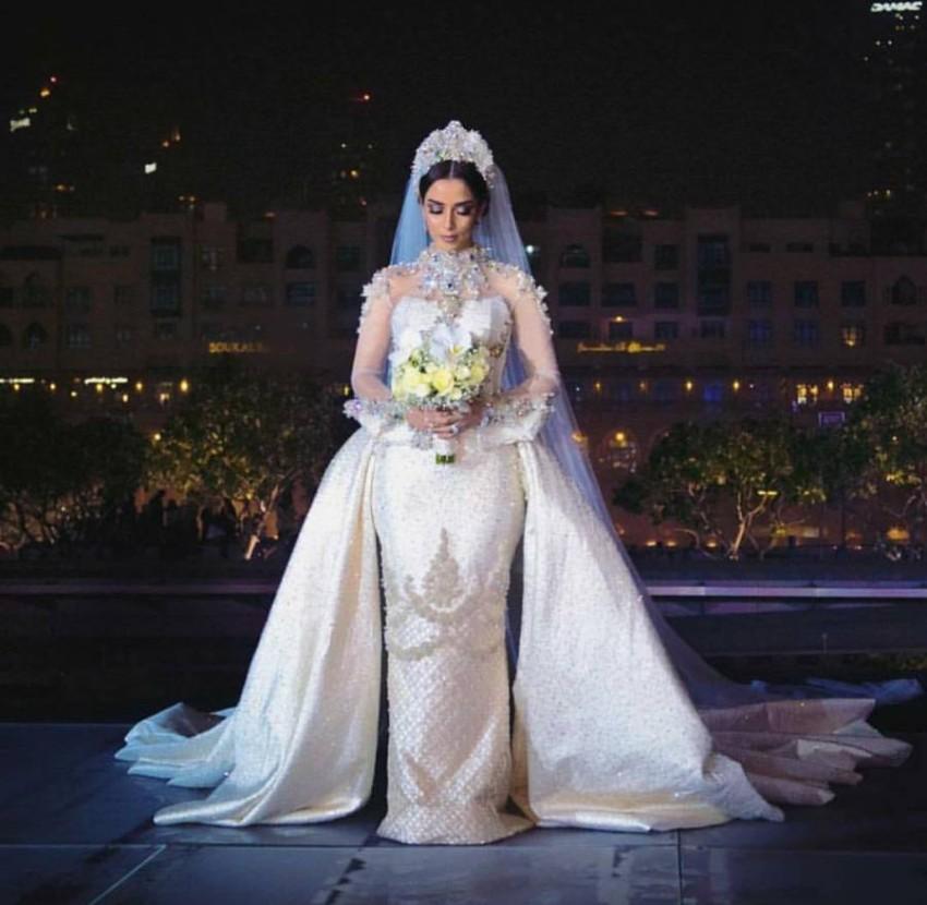 بلقيس فتحي في زفافها