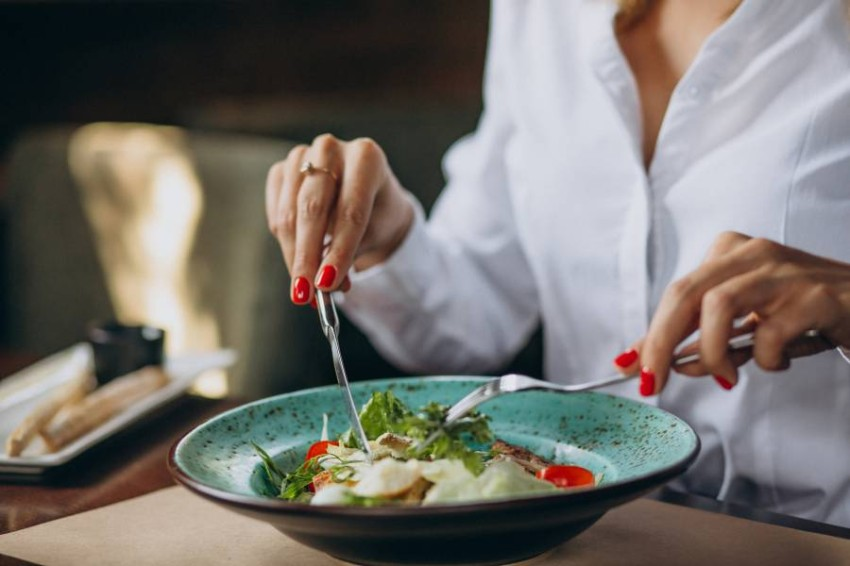 الانتباه لحصص الطعام في طبقك
