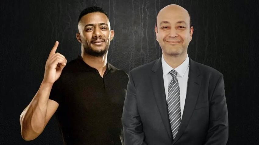 محمد رمضان وعمرو أديب