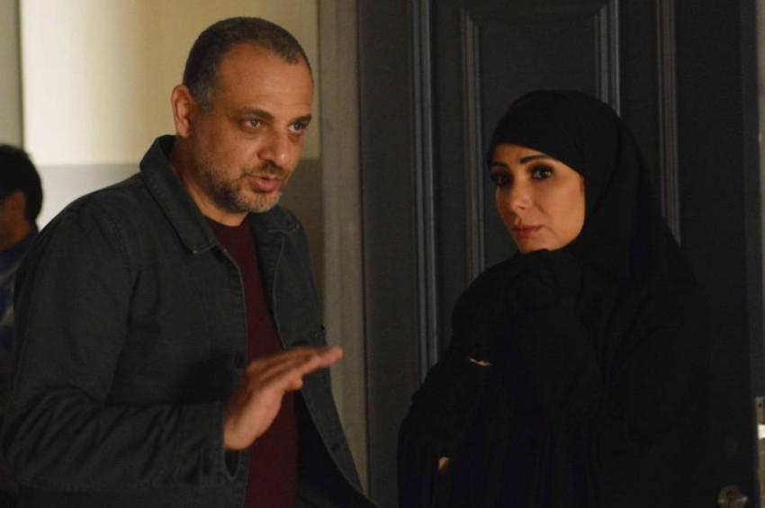 منى زكي والمخرج تامر محسن
