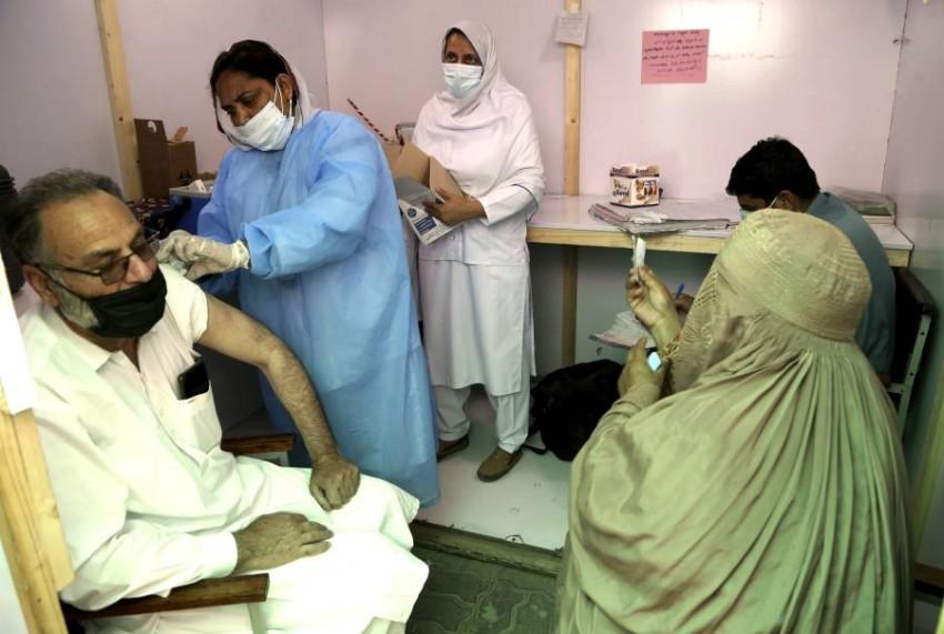 حملات التلقيح مستمرة في باكستان. (أ ب)
