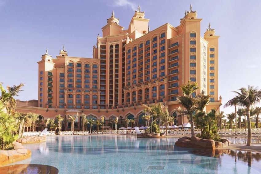 حمام السباحة في Atlantis The Palm