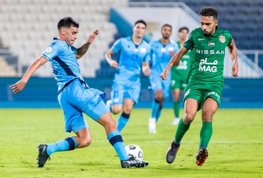 من مباراة بني ياس وشباب الأهلي. (من المصدر)