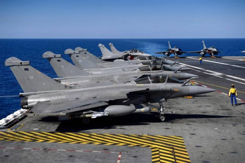 مقاتلات رافال الفرنسية. (أ ف ب)