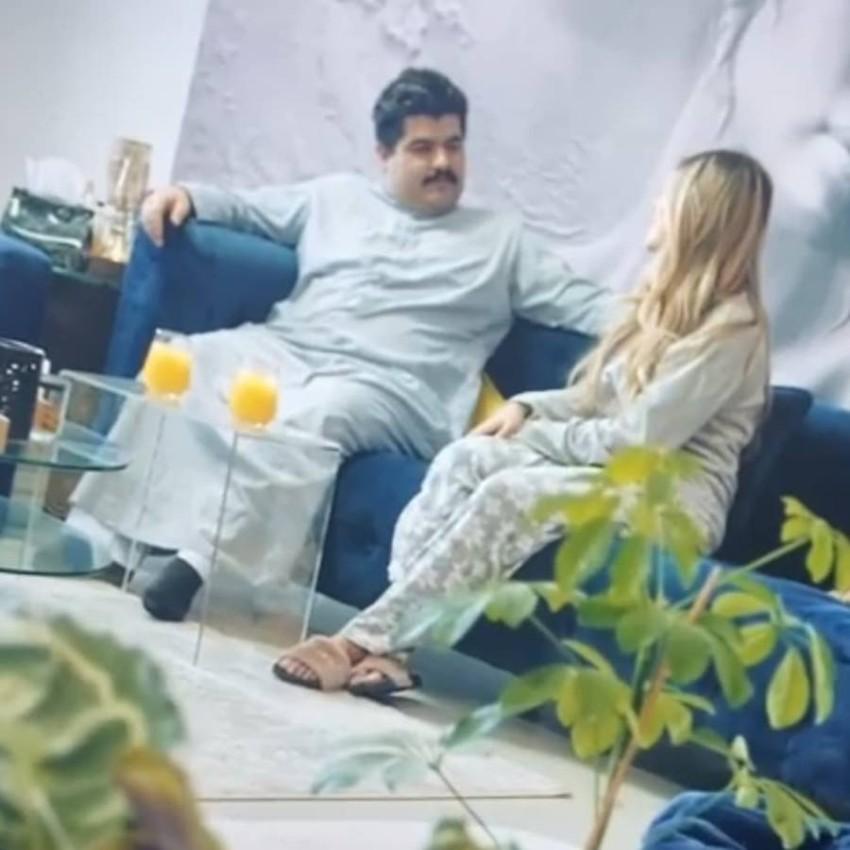 صالح البلام في مشهد من مسلسل بيت الذل
