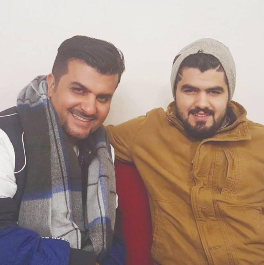 صالح البلام مع والده الراحل مشاري البلام