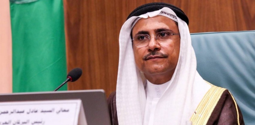 رئيس البرلمان العربي عادل بن عبدالرحمن العسومي.(أرشيفية)