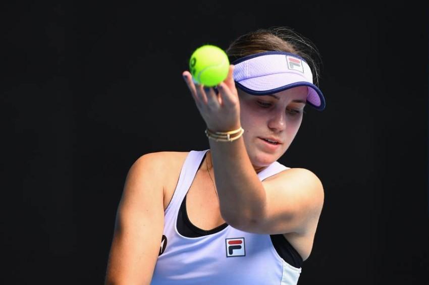 لاعبة التنس الأمريكية صوفيا كينين. (أ ف ب)