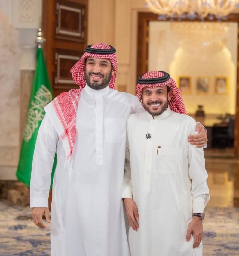 المديفر مع الأمير محمد بن سلمان