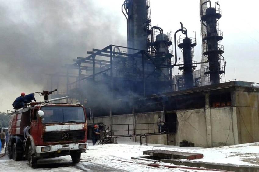 حريق نشب في وحدة تقطير 100 بمصفاة حمص نتيجة تسرب من إحدى المضخات - أب.