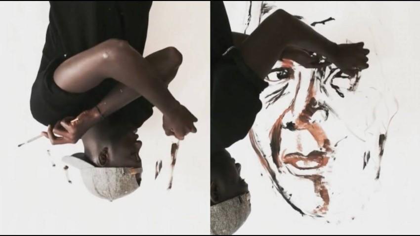 نيلسون مانديلا بريشة بوبو.