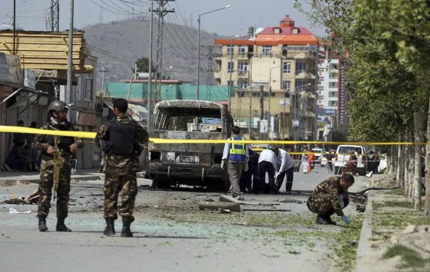 انفجار سابق لحافلة في كابول. (أ ب - أرشيفية)