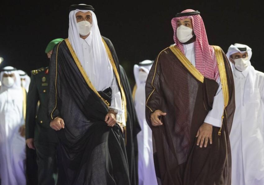 تبادل ولي العهد السعودي وأمير دولة قطر التهنئة بمناسبة قرب حلول عيد الفطر المبارك - أب.