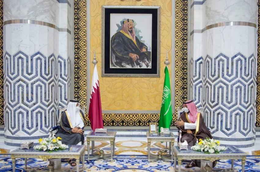 ولي العهد السعودي عقد جلسة مباحثات مع أمير دولة قطر - رويترز.