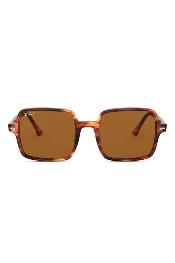 النظارات المربعة مع إطار صدف السحلفاة