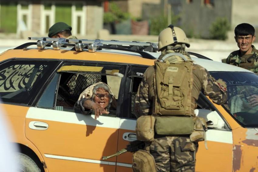 تشديدات أمنية في أفغانستان تزامنا مع بدء الانسحاب الامريكي.( أ ف ب)