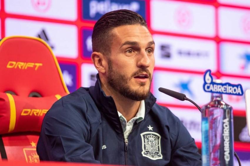 كوكي لاعب أتلتيكو مدريد ومنتخب إسبانيا. (إ ب أ)