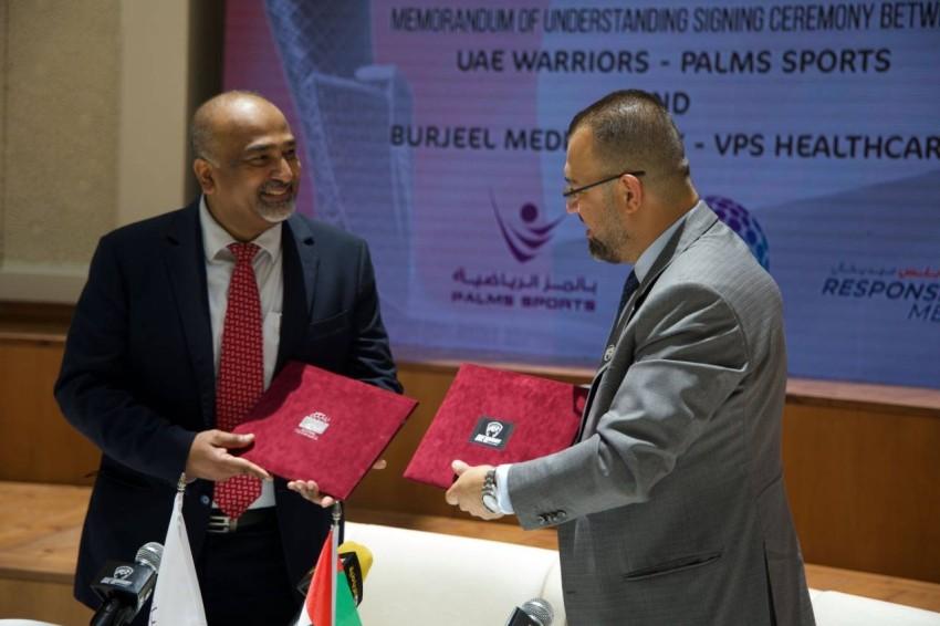 اتفاقية تعاون محاربي الإمارات وبرجيل. (الرؤية)