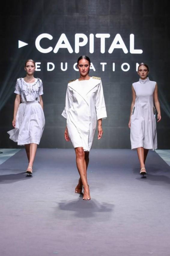 جانب من عرض أزياء المصممة نوف المازمي. (الصور: من المصدر)