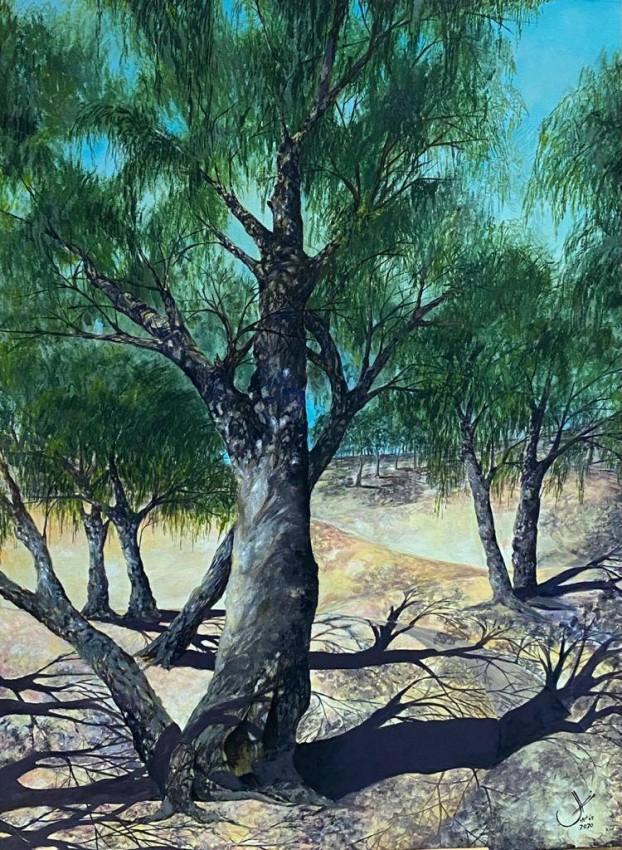 لوحة منال عبدالله الفلاس المركز الأول رسم