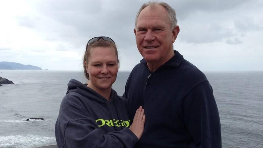 كاثي مع والدها