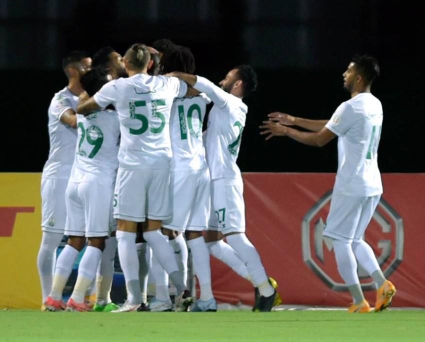 لاعبو الأهلي السعودي. (إ ب أ)