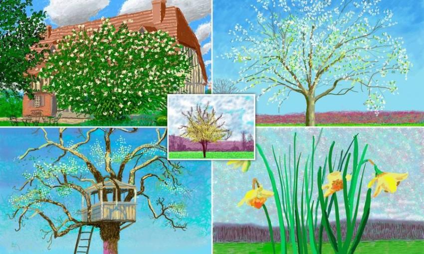 لقطات مجمعة للوحات المعرض
