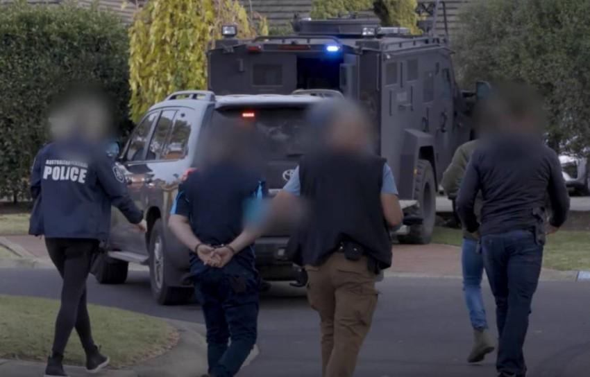 الشرطة الأسترالية تعتقل عدداً من أفراد العصابات في سيدني.(إ ب أ)