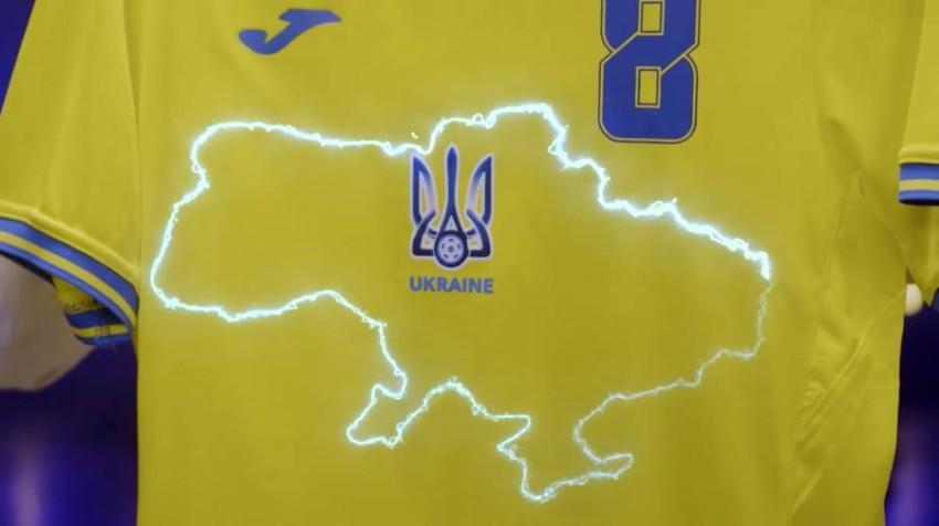 قميص أوكرانيا في يورو 2020. (أ ب)