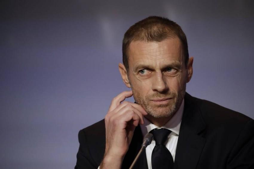 ألكسندر سيفيرين رئيس الاتحاد الأوروبي لكرة القدم. (أ ب)